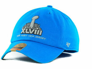 cdb132cafe64a Super Bowl XLVIII 47  Brand Franchise Hat Cap NFL NY NJ Teal Size L ...