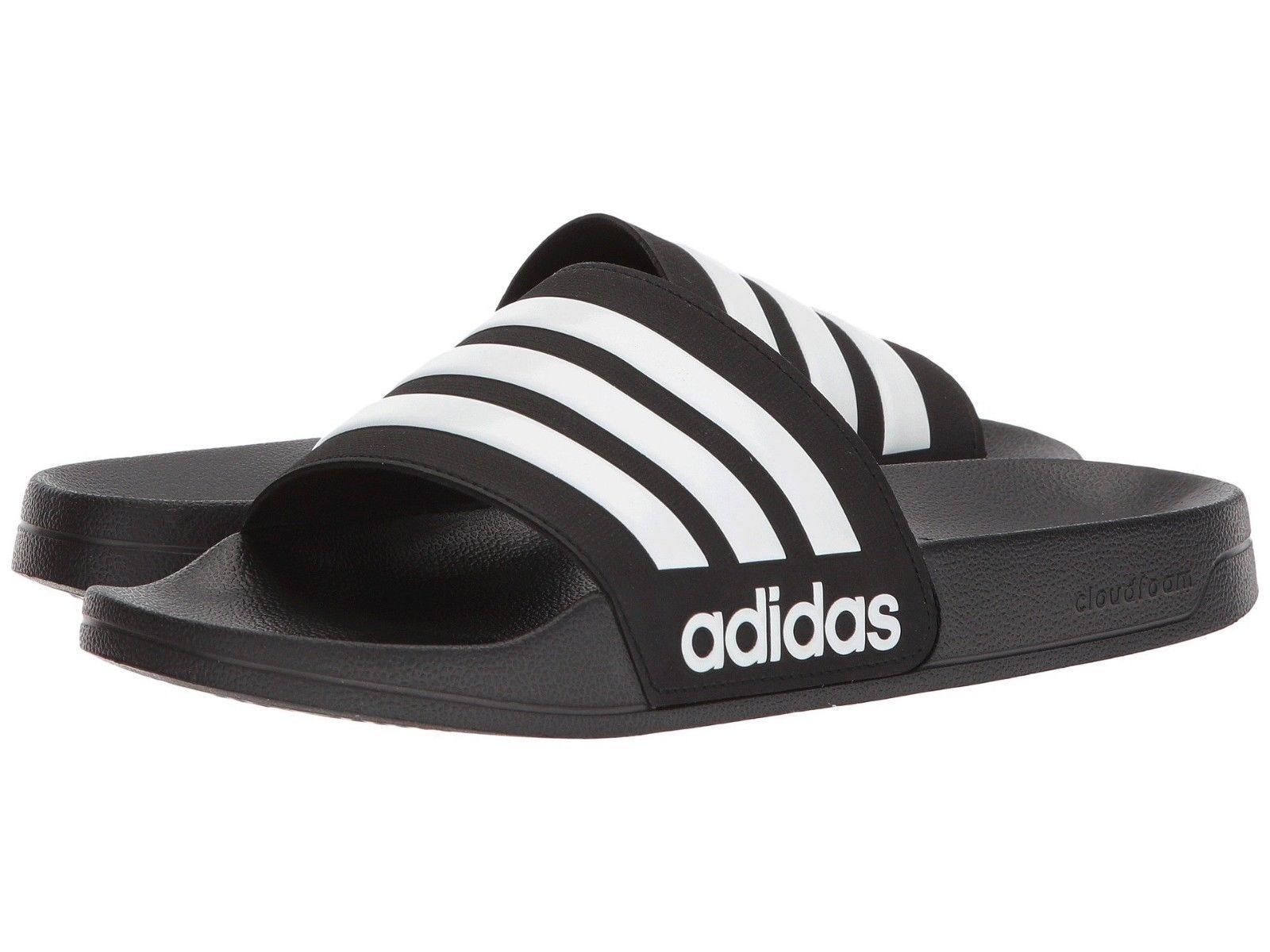 Adidas Men's NEO CF Adilette Slide Sandal AQ1701 Black White Core Black New