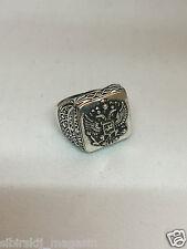 Russland Ring mit Wappen Adler, Kupfer Silber überzogen, Größe 13