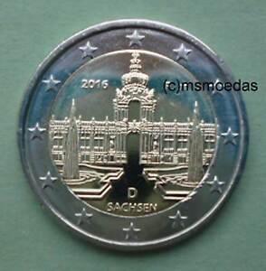 Deutschland 2 Euro Gedenkmünze 2016 Euromünze Sachsen Dresden Adf
