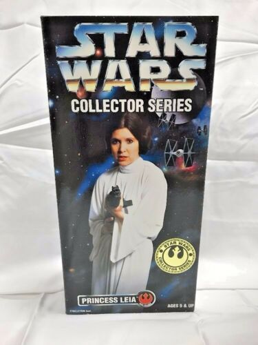 "PRINCESS LEIA Star Wars 12/"" Figure Carrie Fisher Collector Series Doll NEW 1996"