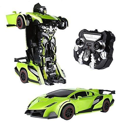 Carro Robot Electronico A Control Remoto Sonido Real De Motor Con Luces green