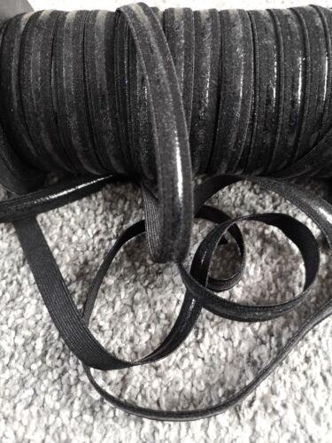 5 METRES NON SLIP 10MM SILICONE BACKED ELASTIC BLACK STRAPLESS DRESS BRA MAKING