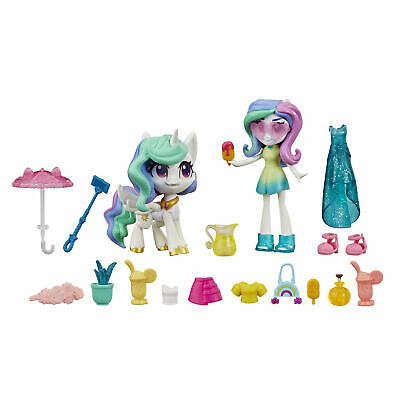 My Little Pony Equestria Girls Celestia Potion Princess 3 Mini Doll And Pony 5010993661114 Ebay
