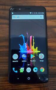 ZTE-Blade-Z-MAX-Z982-32GB-Black-MetroPCS-Smartphone-UNLOCKED-CRACKED