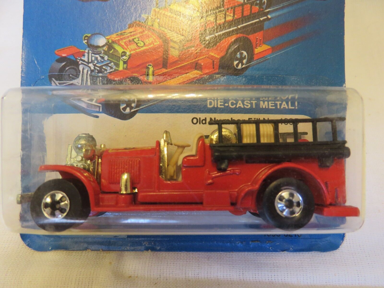1981 VTG Hot Wheels Old Number 5 Fire Engine 1695 Red Hong Kong Die-Cast Car B