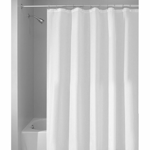 InterDesign Waterproof Extra Long Shower Curtain Liner White 72 X 96