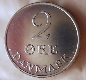 1971-Dinamarca-2-Mineral-Azul-UNC-Zinc-De-Dansk-Banco-Mint-Rollo-Ganga-Bin