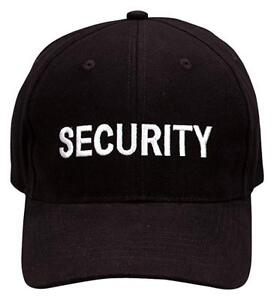 Security Embroidered Acrylic Hat One Size