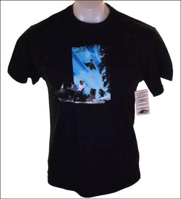 Bnwt Authentic Men's Oakley Ettla Short Sleeve T Shirt Large Black Ski Snowboard