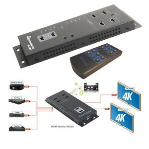 C07-HDMI-4x2-Matrix-Splitter-Verteiler-2x-OUT-Umschalter-Adapter-3D-Audio-Video