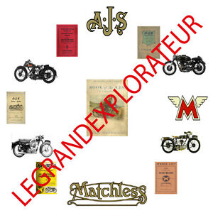 Ultimate Ajs Matchless Operation Service Manual Collection Library 440 Pdf Dvd Ebay