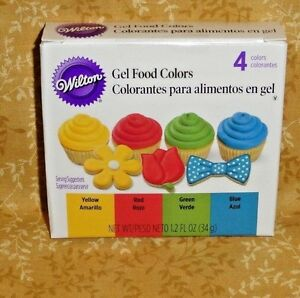 Primary Edible Gel Food Coloring,Icing Color,Wilton,601-5581,4 ...