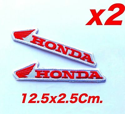 2x Honda Embroidered Sew Iron on Patch Motorcycles Biker