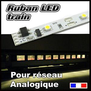 ruban-LED-blanc-chaud-pour-voiture-voyageur-Train-HO-Jouef-Lima-Roco