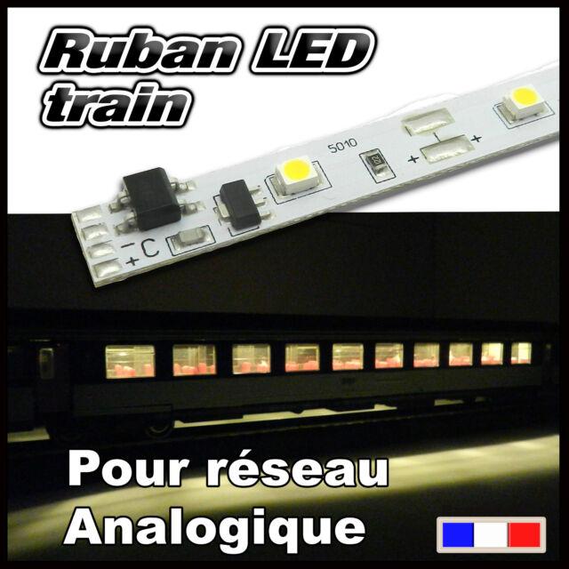ruban LED blanc chaud pour voiture voyageur Train HO , Jouef, Lima, Roco.....
