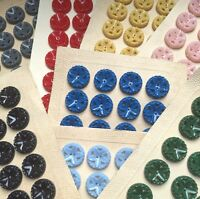 Lovely Vintage Flower Buttons - Choice of Colour and Size