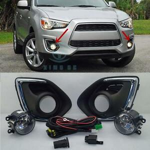 s l300 fog lights lamp & harness switch kit for mitsubishi outlander sport