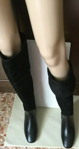 Very beautiful boots MARINA RINALDI Woman, black color, size 41, suede / leather