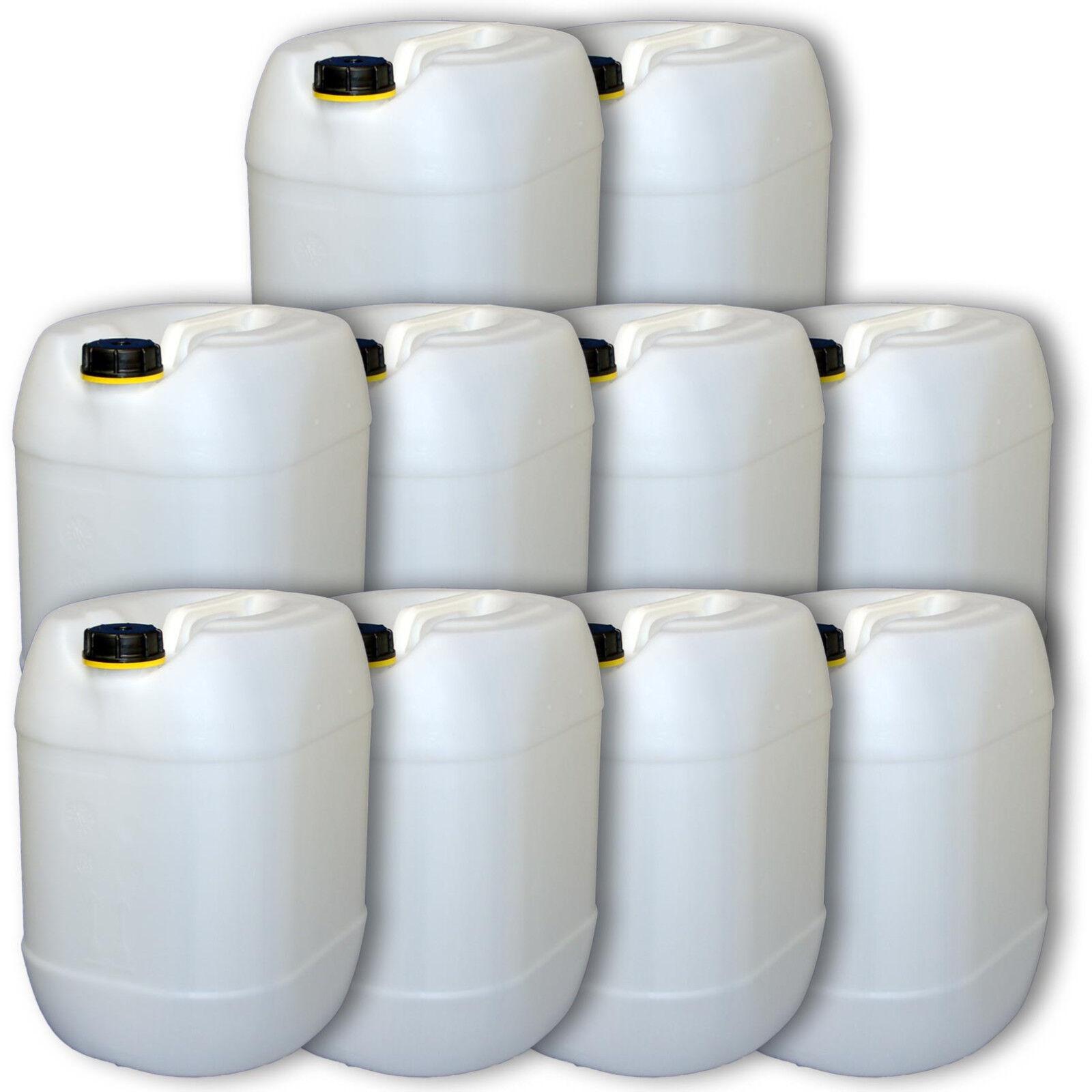 Pacco 10er Contenitore Bevee taniche per l'acqua naturale 30 litri di materiale di plastica roautobusta