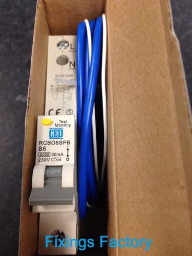 Top Quality B Type RCBO RCB RCD Electrical Breakers 6A 10A 16A 20A 25A 32A 40A