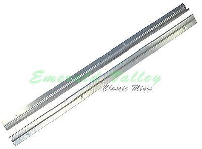 Classic Mini New Pair of Alloy Tread Plates Door Seal Kick Strip
