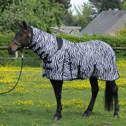 Mouches couverture Lyon zebra avec halsteil topline ekzemerdecke mouches protection daselfo