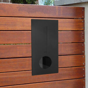 Milkcan Letterbox Hendon Black Mail Brick Fence Mount Mailbox