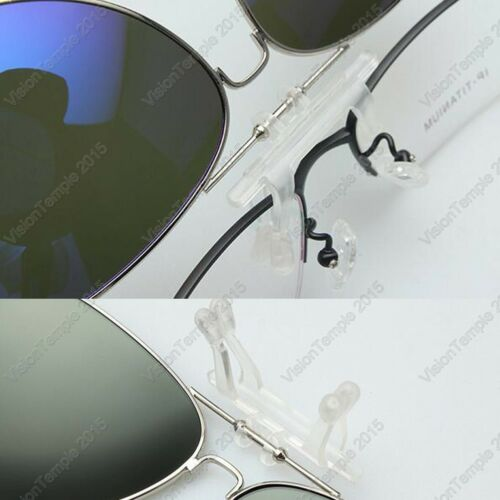 Polarized Mirror Lens Flip-Up Clip On Sunglasses Wear Over Prescription Glasses
