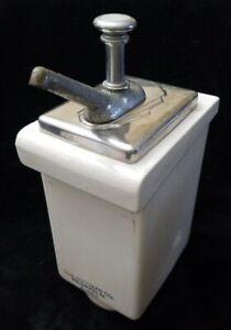 Fischman-Soda-Fountain-Porcelain-Ceramic-Syrup-Pump-Dispenser-A-466-1-Drugstore