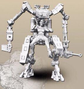 1-35-Resin-Robo-Warrior-Female-Killer-unpainted-unassembled-NO-GUIDE