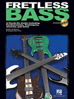 Fretless BASS GUITAR TAB Music Book Learn to Play + CD