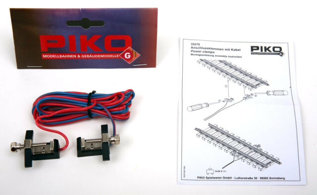 PIKO 35270 G Scale Track Power Cable With Connectors in Bag | eBay on 1:24 scale track, o scale track, train track, s scale track, z scale track, running track, slot car track, tt scale track, n scale track,