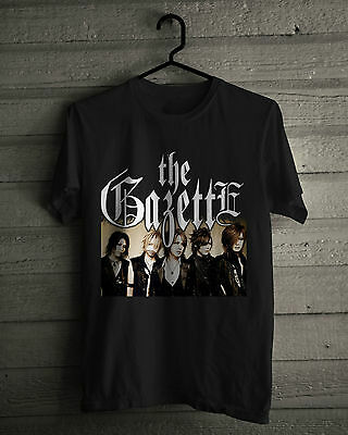 The Gazette T-Shirt, Japanese visual kei rock band, Black Tee Shirts