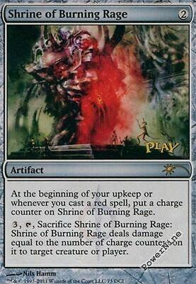 Artifact WPN Mtg Magic Rare 1x x1 1 PROMO PLAYED FOIL Shrine of Burning Rage