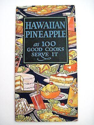 """Niedrigerer Preis Mit 1926 """" Hawaiian Pineapple """" Cook Broschüre Mit Sehr Bunte Abdeckung-m Ananas Klar Und Unverwechselbar"""