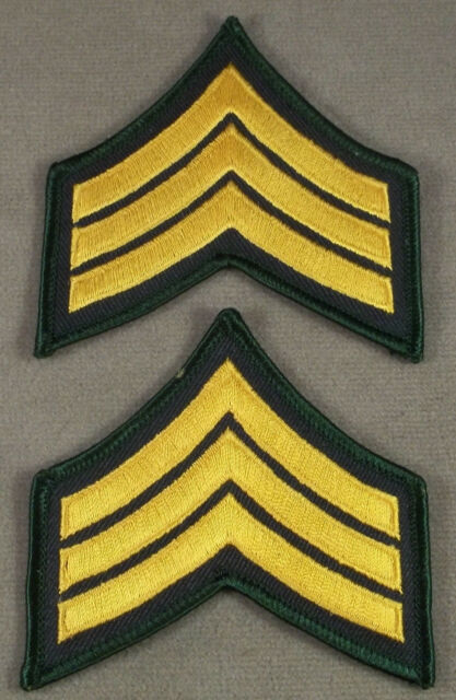 Law Enforcement Security Guard Sergeant Sleeve Rank Insignia Pair Police