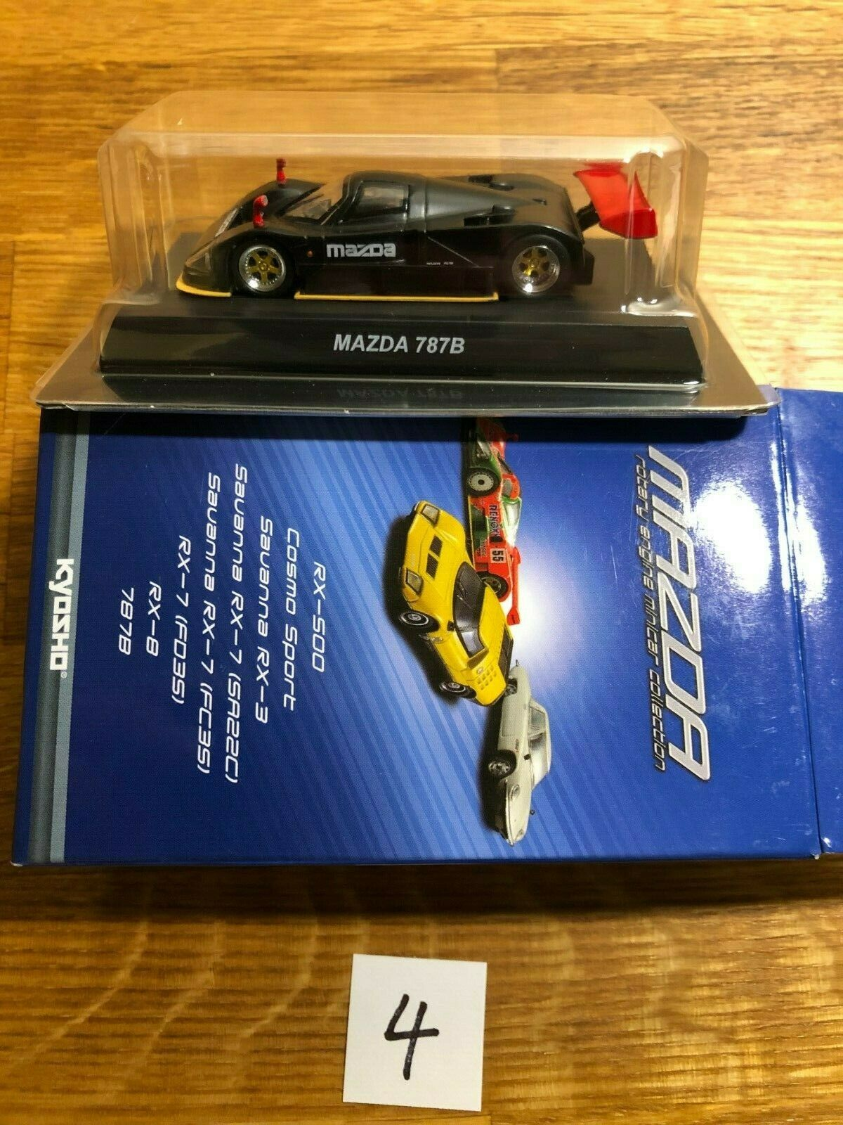 1 64 Kyosho karuwaza Exclusif Mazda 787B-Noir Furtif moteur rougeatif MINICAR