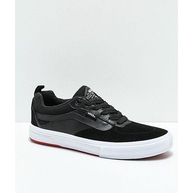 Vans Kyle Walker Pro Skate Shoes - Black/Red VN0A2XSG458