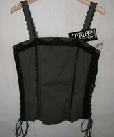 Tripp Nyc Corset Top Lace-up Polka Dots Gothic Punk Rockabilly, M, Msrp $42