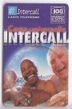 FRANCE TELECARTE / PHONECARD PREPAYEE .. 100F INTERCALL  PLAGE V°2 12/02+N°
