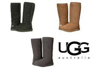 c51210918b2 Details about UGG Kids K Classic Tall II Pull-on Boot Authentic New Unisex  Chestnut Black Grey