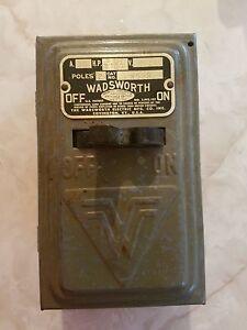 Wadsworth vintage 2 fuse 30 amp electrical box industrial decor ebay Camper Fuses 30 amp fuse panel RV 30 Amp Breaker Box