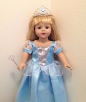 Sophia Doll Clothes Blue Princess(cinderella) Dress Fits American Girl Doll