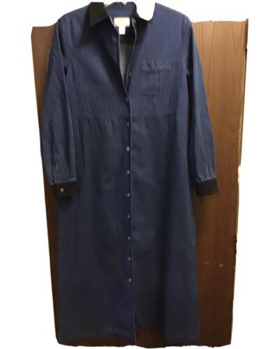 Vintage Dress  90s Talbots denim maxi dress Petite
