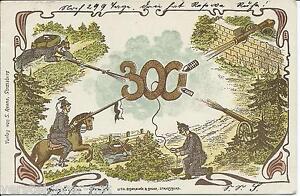 Postkarte-300-Soldatenkarte-1901-Balingen-Militaerdienst-Militaer-Lith-Strassbourg