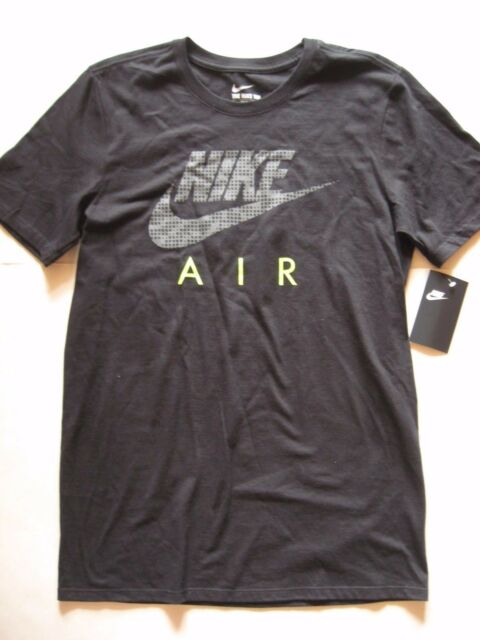 7806399d39e NEW Men's Nike AIR Logo T-Shirt Black/Gray/Volt 941245-010 Size Small
