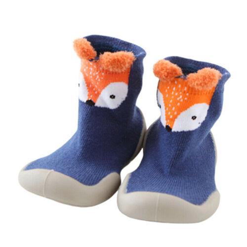 Kids Baby Girls Boys Thermal Slipper Socks Toddler Non Slip Home