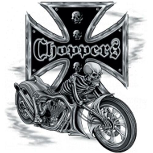 Chopper Chopper amp;oldschoolmotiv Biker Worker Grau Modell Hd Skelett Shirt Vintage 61wznqTX