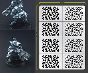 Details about INFANTRY HEX CAMO ADHESIVE AIRBRUSH STENCIL WARGAMING FALLOUT  HOBBIES PDT